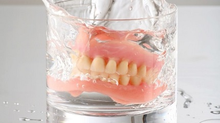 уход за съёмным зубным протезом